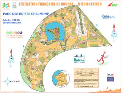 Carte Buttes Chaumont.Parc Des Buttes Chaumont 2